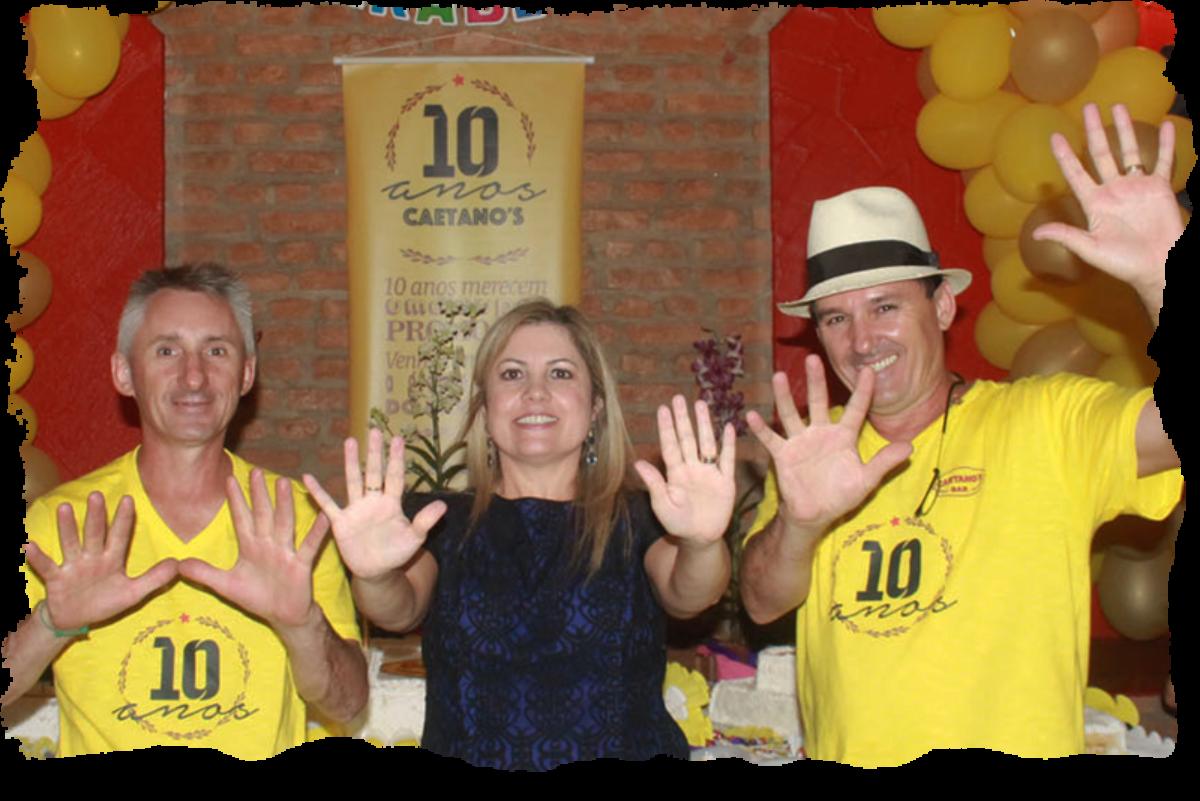 10 anos de Caetano's Bar - Edilson Dargas, Marinês Silva Dargas e Vilso Dargas