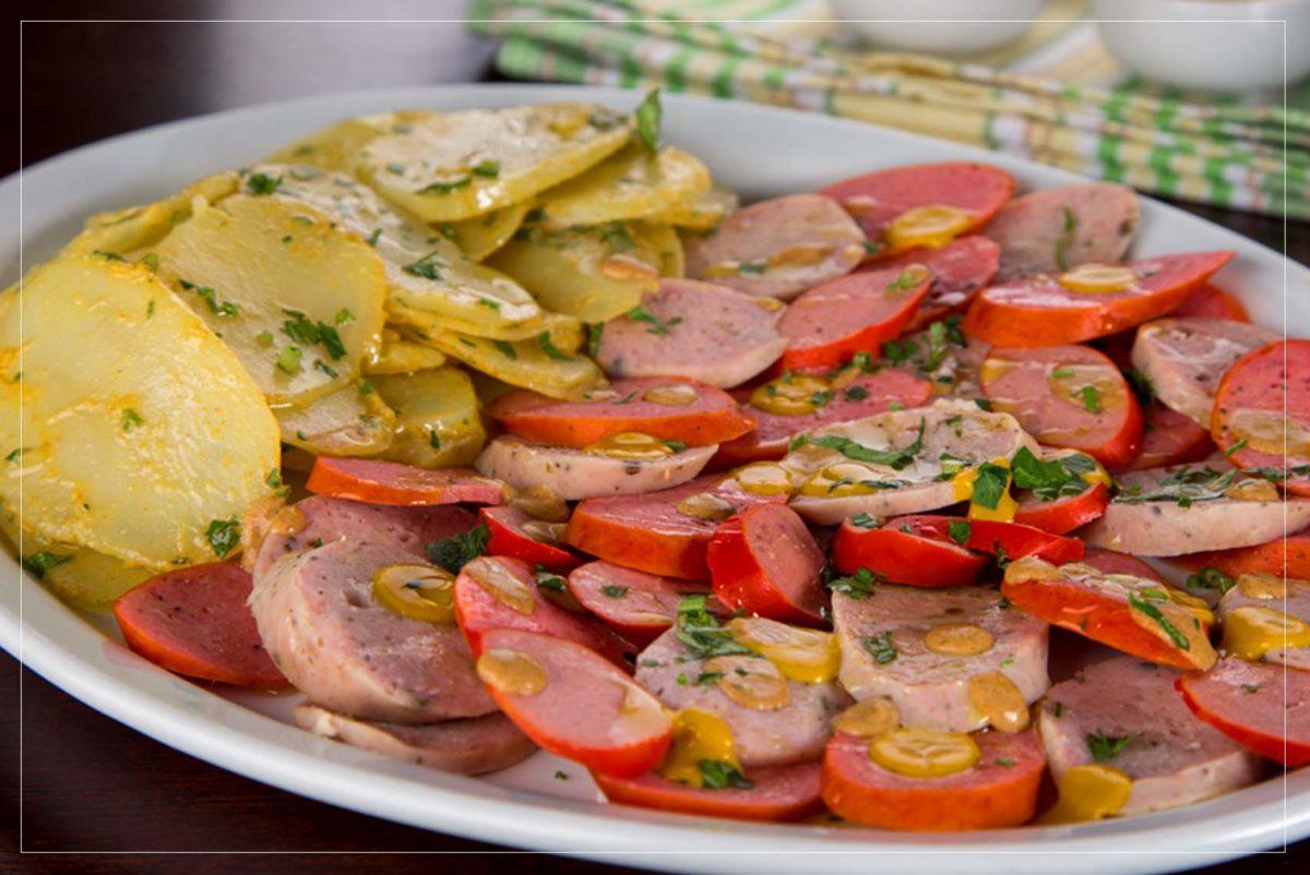 Salsichas (vermelha e branca)